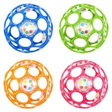 BP OBALL Rattle 10 cm farblich sortiert