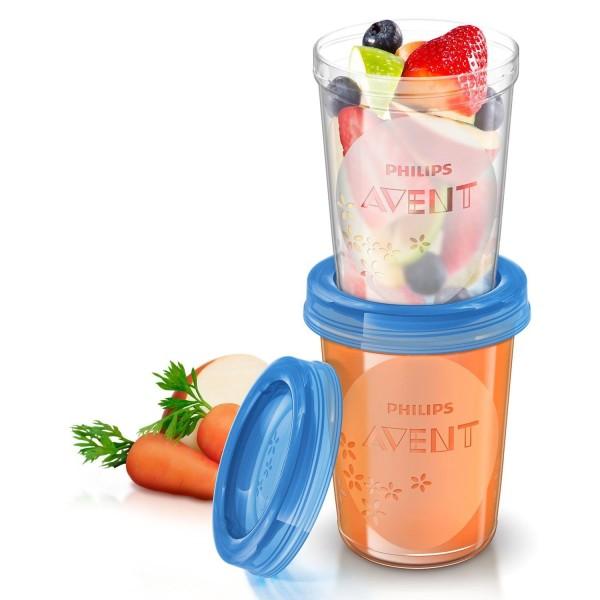 BP AVENT Aufbewahrungssystem für Babynahrung, 5 x 240 ml