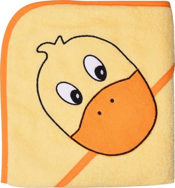 """WÖRNER Kapuzen-Badetuch """"Ente"""", 80x80cm, für Babys"""
