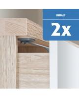 Reer DesignLine Schubladen- und Schranktürsicherung zum Kleben oder Schrauben, anthrazit