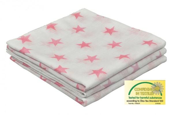 AsMi Dopplemullwindeln Stars rosa