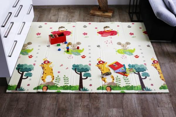 Elternstolz Spielmatte Play mat Deluxe L 177 x 197 x 1,5 cm Babymatte Krabbeldecke Schadstoffrei Tüv geprüft