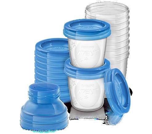 BP AVENT Aufbewahrungssystem für Muttermilch, 5 x 180 ml