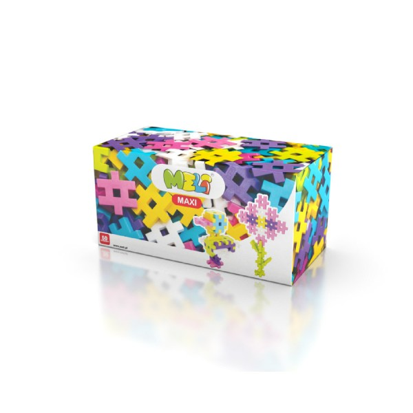 Meli Maxi Pink 50 Konstruktionsbausteine Steckspiele