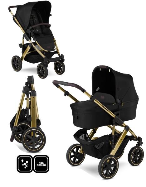 ABC Design Kinderwagen Salsa 4 Air incl. Sportsitz und Tragewanne - Kollektion 2020 Diamond Edition champagne