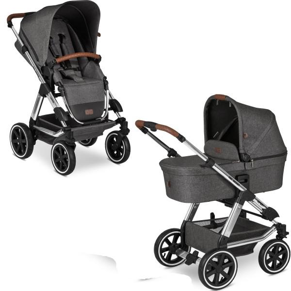 ABC Design Kinderwagen Viper 4 incl. Sportsitz und Tragewanne - Kollektion 2020 Diamond Edition asphalt