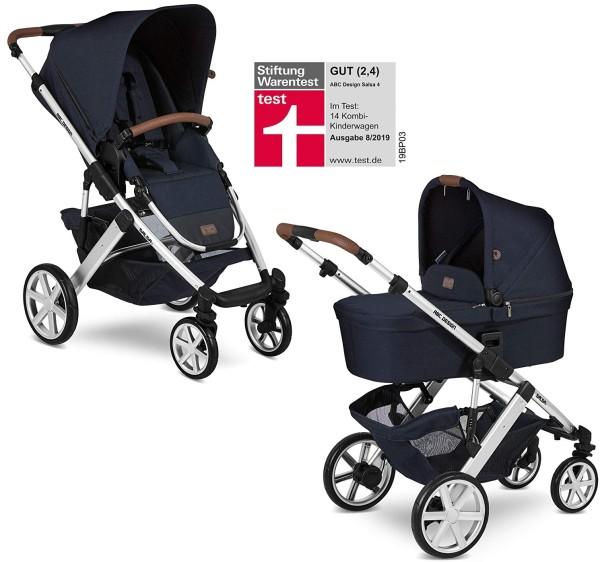 ABC Design Kinderwagen Salsa 4 incl. Sportsitz und Tragewanne - Kollektion 2020 shadow