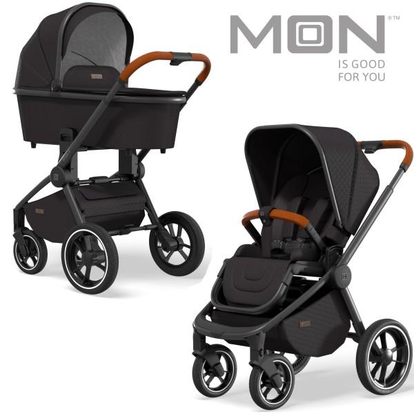 Moon Kinderwagen 2 in 1 Set ReSea S Des. 301 black