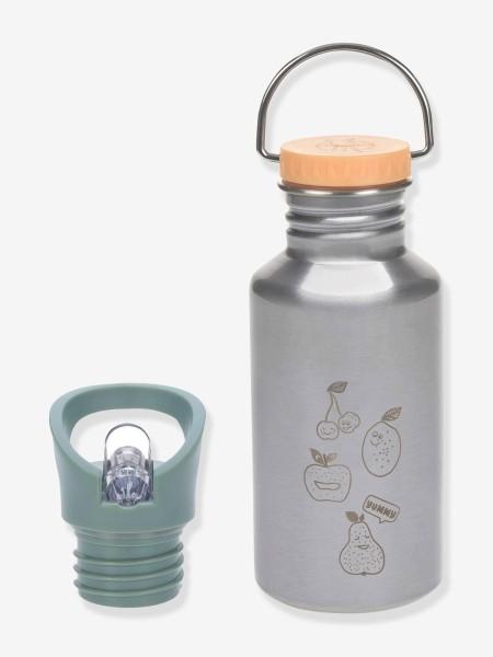 LÄSSIG Edelstahl-Trinkflasche grau natur Stainless Steel Yummy