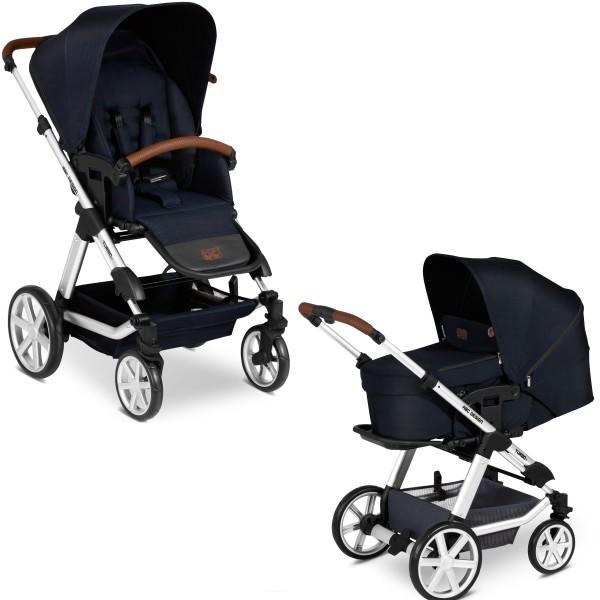 ABC Design Kinderwagen Turbo 4 incl. Sportsitz und Tragetasche - Kollektion 2020 shadow