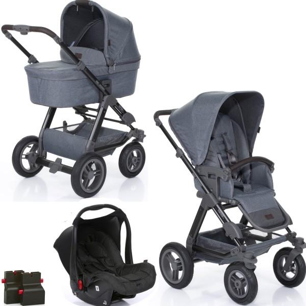 Abc Design Viper 4 Kinderwagen Set 3 in 1 Mountain inkl. Autositz Hazel Piano und Adapter