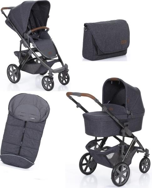 ABC Design Salsa 4 street Kinderwagen SET inklusive Winterfußsack und Wickeltasche Fashion
