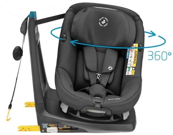 Maxi Cosi Axissfix Authentic black drehbahrer Reboarder Kindersitz