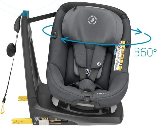 Maxi Cosi Axissfix Authentic Graphite drehbarer Reboarder Kindersitz