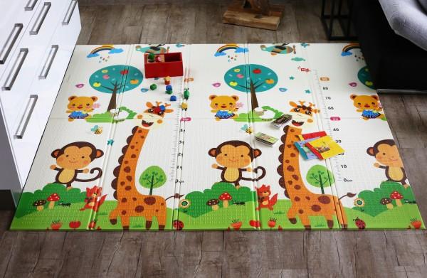 """Elternstolz Spielmatte """"Play Mat """" L 177 x 197 x 1,0 cm Babymatte Krabbeldecke Schadstoffrei Tüv geprüft"""
