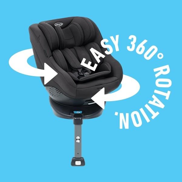 Graco Turn2Me Reboarder Kindersitz mit Isofix 360 Grad drehbarab Geburt - 18 kg
