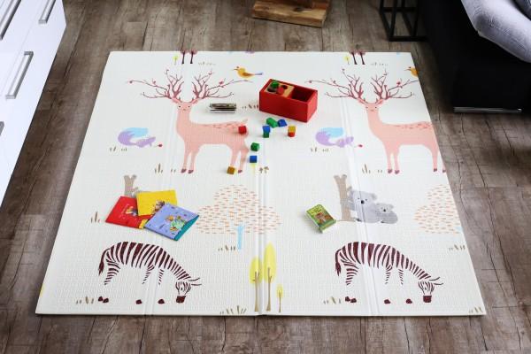 """Elternstolz Spielmatte """"Play mat"""" M 157 x 177 x 1cm Babymatte Krabbeldecke Schadstoffrei Tüv geprüft"""