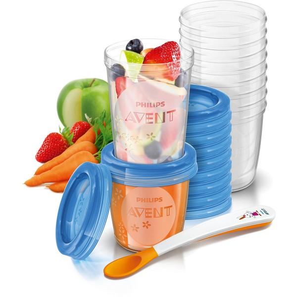 BP AVENT Aufbewahrungssystem für Babynahrung, 10 x 180 ml und 240 ml