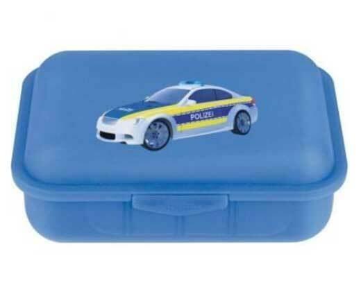 Brotdose Polizei mit Trennsteg blau