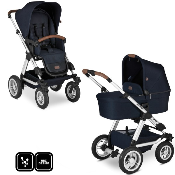 ABC Design Kinderwagen Viper 4 incl. Sportsitz und Tragewanne - Kollektion 2020 shadow