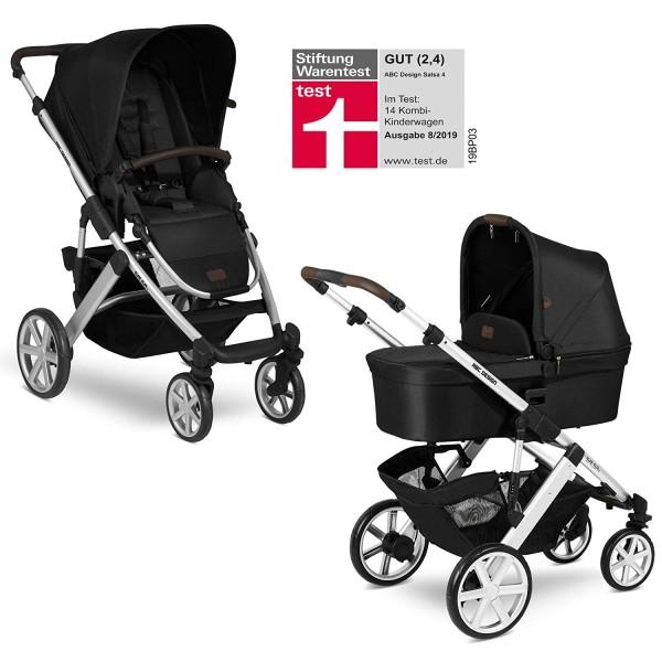 ABC Design Kinderwagen Salsa 4 incl. Sportsitz und Tragewanne - Kollektion 2020 gravel